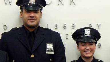 Garden City Police Officer Eduardo Rodriguez and the