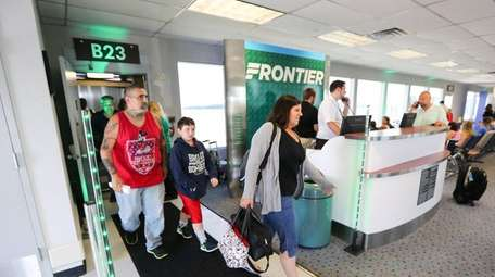 Passengers who flew on the first Frontier Airlines