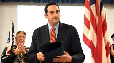 Huntington Town Supervisor Chad Lupinacci, seen here on