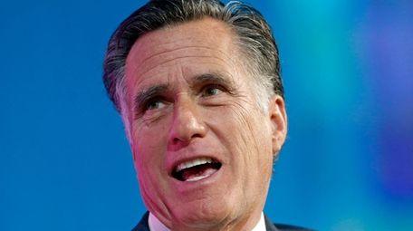 Former Republican presidential candidate Mitt Romney speaks at
