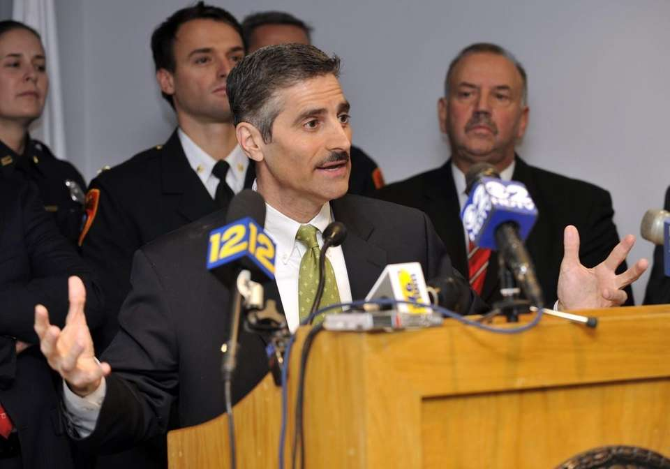 Suffolk County Executive Steve Levy speaks about his