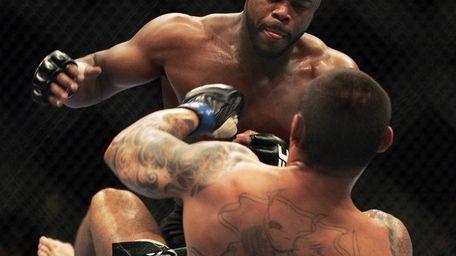 Rashad Evans fights Thiago Silva during UFC 108