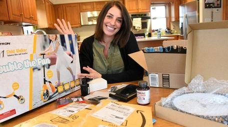 Rachel Goodale, seen at her Riverhead home, Saturday,