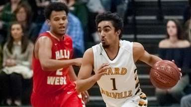 Ward Melville's Robert Soto tries to stay ahead