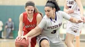 Oyster Bay's Gianna Gotti works for the ball