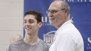 Half Hollow Hills' Ethan Tack gets presented with
