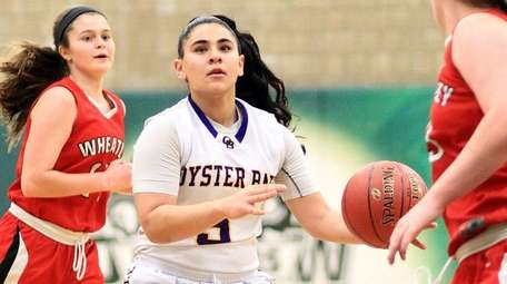 Oyster Bay's Gianna Gotti looks for a shot