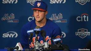 Former NFL quarterback and current Mets outfield prospect