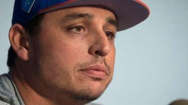 Jason Vargas, the Mets' newest starting pitcher, at