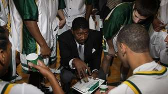 Longwood boys varsity basketball head coach Dennis Terry