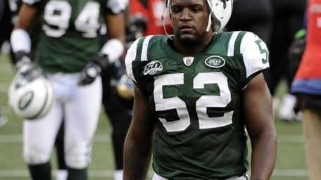 New York Jets linebacker David Harris (52) and