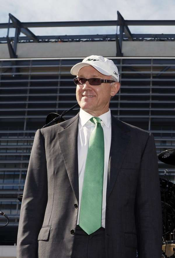 This file photo shows New York Jets owner
