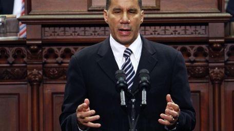 New York Gov. David Paterson delivers his State