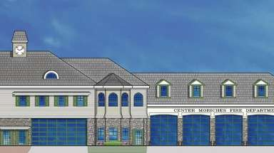 A rendering of what the Center Moriches firehouse