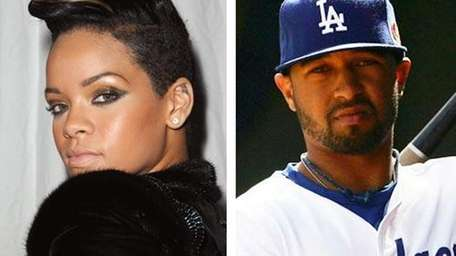Rihanna and new boyfriend, Matt Kemp, an outfielder