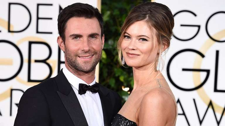 Adam Levine and Behati Prinsloo at the Golden