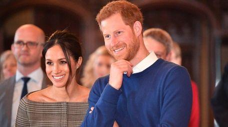 Prince Harry and fiancee Meghan Markle , seen