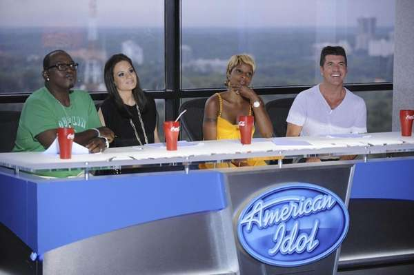 Guest judge Mary J. Blige, second from right,