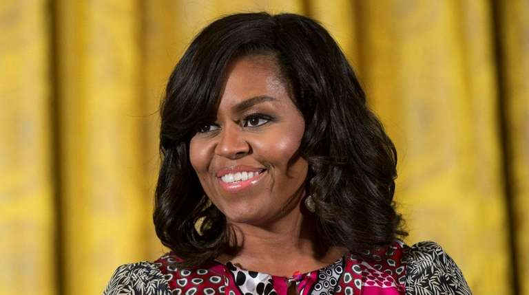 Former first lady Michelle Obama speaks at a