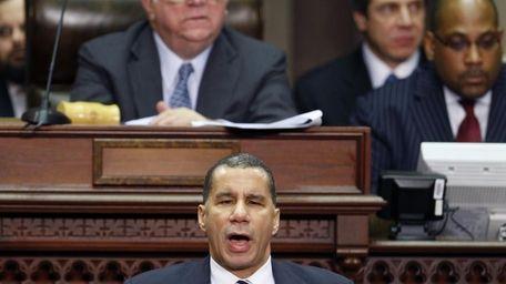 Gov. David A. Paterson delivers his State of