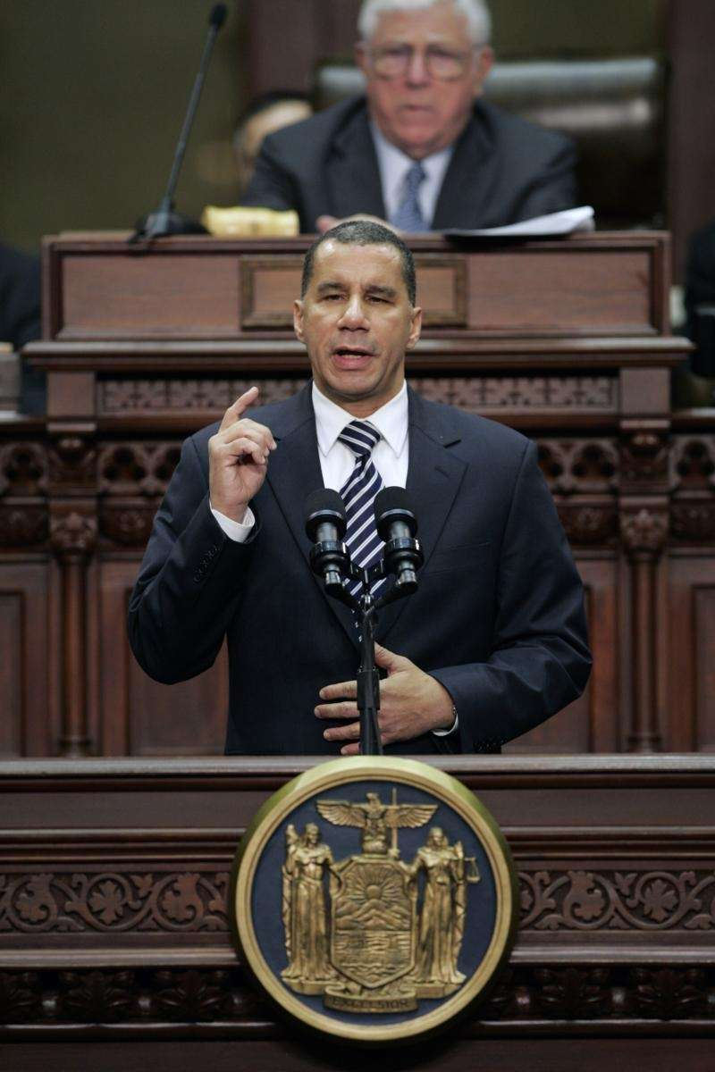 Gov. David A. Paterson delivers his State of