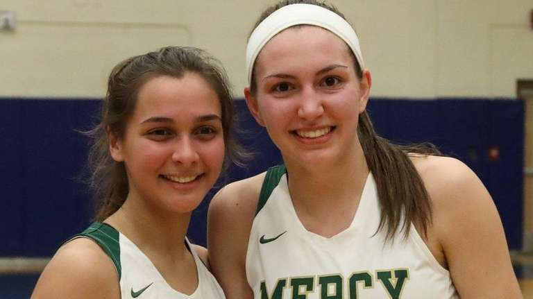 Mercy team captains Caryn Nabrizny, left, and Melina