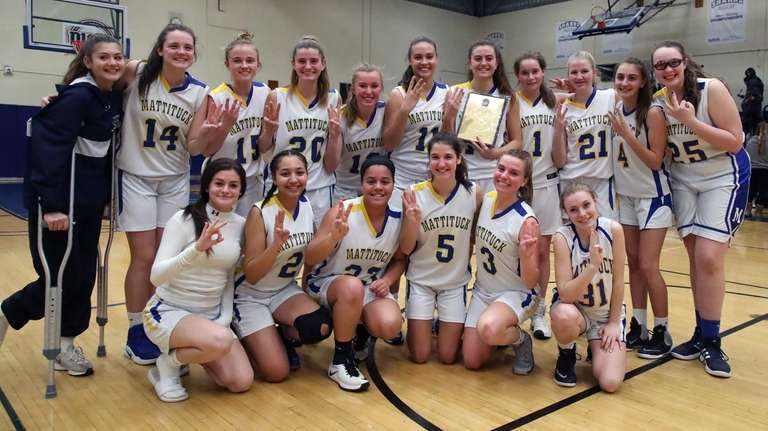 Mattituck celebrates their third straight Suffolk Class B