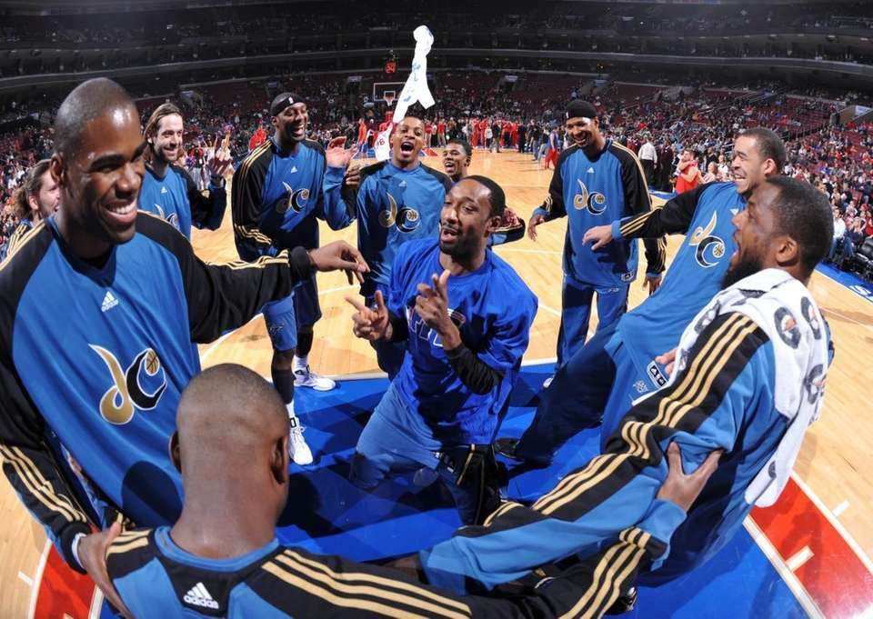 Gilbert Arenas #0 of the Washington Wizards gestures