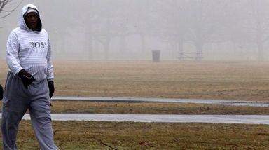 Erol Mattis of Hempstead takes an early morning