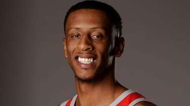 Houston Rockets' Troy Williams poses during media day