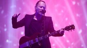 Thom Yorke from Radiohead performs on the Pyramid