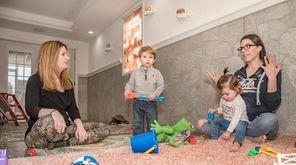 Robyn Lanci with her son Luke, 21 months,