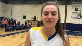 Liz Dwyer spoke about Mattituck's 50-34 win over