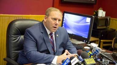 Rockville Centre Police Commissioner Charles Gennario, seen on