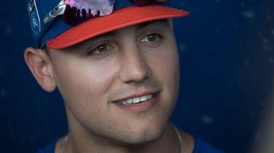 NY Mets outfielder Michael Conforto during a spring