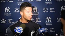 Yankees infielder Gleyber Torres spoke aboutspring training on
