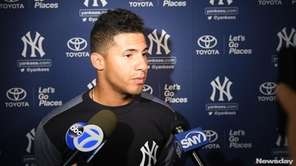 Yankees infielder Gleyber Torres spoke about spring training on