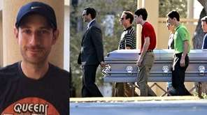 The remains of teacher Scott Beigel, left, are