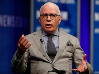 Author Michael Wolff at the Newseum in Washington