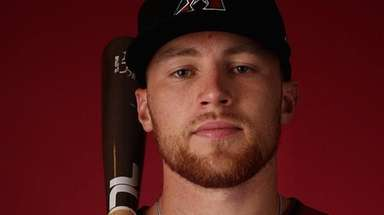 Brandon Drury of the Arizona Diamondbacks poses for