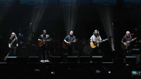 The new Eagles lineup, including Timothy B. Schmit,