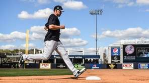 Aaron Judge runs the bases during Yankee Spring