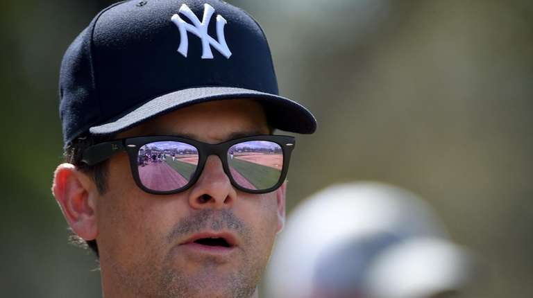 Yankees manager Aaron Boone on Feb. 20, 2018