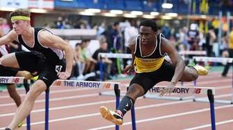 Asiel King of Uniondale ran a 7.54 in