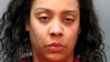 Angela Briel, 34, of Holtsville, was arrested on