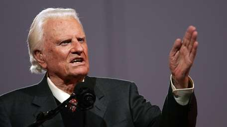 Billy Graham speaks at Flushing Meadows-Corona Park in