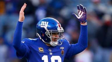 Eli Manning of the Giants at MetLife Stadium