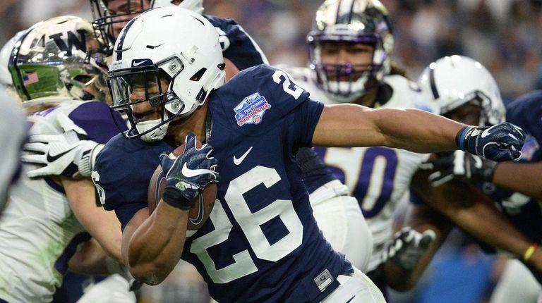 Penn State's Saquon Barkley runs for a 92-yard