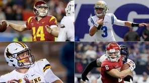 Clockwise from top left: USC's Sam Darnold, UCLA's