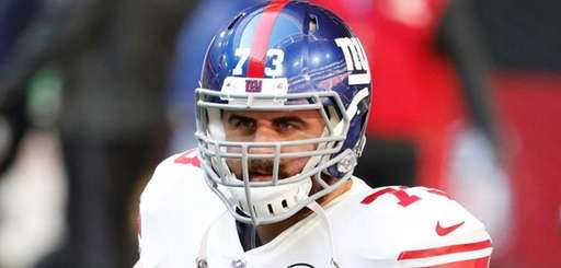 Giants offensive tackle John Greco on Dec. 24,